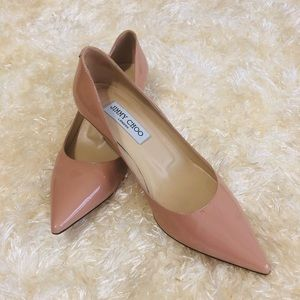 JIMMY CHOO Patent Leather Blush Pink Heels